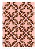 Pink Floral Moth Tiles Giclee Print by Belen Mena
