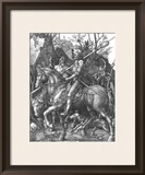 The Knight, Death and The Devil , c.1514 Framed Giclee Print by Albrecht Dürer