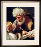 Saint Matthew Framed Giclee Print by Guido Reni