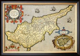 Map of the Island of Cyprus Prints by Abraham Ortelius