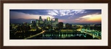Buildings Lit Up at Dusk, Minneapolis, Minnesota, USA Framed Photographic Print by Panoramic Images