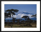 Kenya, Mount Kilimanjaro Gerahmter Fotografie-Druck von Michele Burgess