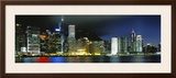 View from Wanchai, Central District, Hong Kong Framed Photographic Print by  Panoramic Images