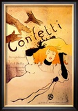 Confetti Prints by Henri de Toulouse-Lautrec