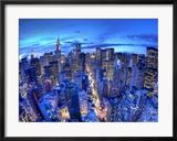 Chrysler Building und die Skyline von Midtown Manhattan, New York City, USA Gerahmter Fotografie-Druck von Jon Arnold