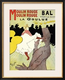 "Reproduction of a Poster Advertising ""La Goulue"" at the Moulin Rouge, Paris Framed Giclee Print by Henri de Toulouse-Lautrec"