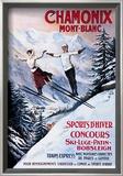 Chamonix Mont-Blanc Poster by Francisco Tamagno