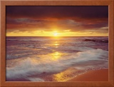Sunset Cliffs Beach on the Pacific Ocean at Sunset, San Diego, California, USA Framed Photo by Christopher Talbot Frank