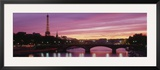 Sunset, Romantic City, Eiffel Tower, Paris, France Framed Photographic Print by  Panoramic Images