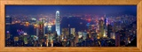 Victoria Harbour und Skyline vom Victoria Peak aus gesehen, Hong Kong, China Gerahmter Fotografie-Druck von Michele Falzone