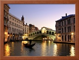 Rialto Bridge, Grand Canal, Venice, Italy Framed Photographic Print by Alan Copson