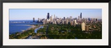 Aerial View of Skyline, Chicago, Illinois, USA Framed Photographic Print by  Panoramic Images