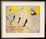 La Troupe De Mlle. Eglantine Gerahmter Giclée-Druck von Henri de Toulouse-Lautrec