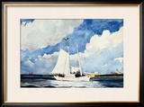 Fishing Schooner, Nassau Framed Giclee Print by Winslow Homer