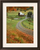 Sleepy Hollow Farm, Woodstock, VT Framed Photographic Print by Charles Benes