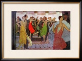 "Paris by Night, a Dance Club in Montmartre, from ""L'Amour Et L'Esprit Gaulois"" Framed Giclee Print by Manuel Orazi"