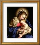 La Sainte Vierge et l'Enfant Estampe encadrée par  Giovanni Battista Salvi da Sassoferrato
