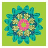 Funky Frida Flower Giclée-tryk af Belen Mena