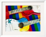 Locally-Crafted Guitars, Cabo San Lucas, Baja California Sur, Mexico Framed Photographic Print by Richard Cummins
