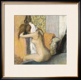 After the Bath, Woman Drying Her Neck, 1898 Framed Giclee Print by Edgar Degas