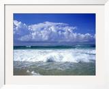 Beach, Barra Da Tijuca, Rio de Janeiro Brazil Framed Photographic Print by Silvestre Machado