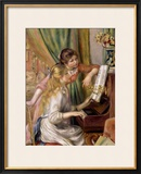 Young Girls at the Piano, 1892 Framed Giclee Print by Pierre-Auguste Renoir