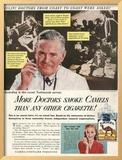 Camels, Cigarettes Smoking Medical, USA, 1946 Prints