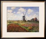 Tulip Fields with the Rijnsburg Windmill, 1886 Framed Giclee Print by Claude Monet