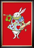 Alice in Wonderland: Horn and Hearts Print by John Tenniel