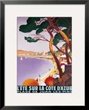 L'Ete sur la Cote d'azur Framed Giclee Print by Roger Broders