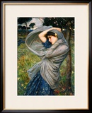 Boreas Framed Giclee Print by John William Waterhouse