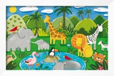 Jungle Fun Framed Giclee Print by Sophie Harding
