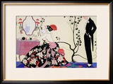 The Backless Dress Framed Giclee Print by Georges Barbier