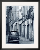 Fiat Driving in Narrow Street, Sassari, Sardinia, Italy Framed Photographic Print by Doug Pearson