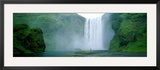 Skogafoss Falls, Skogar River, Iceland Framed Photographic Print by Panoramic Images 