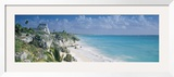 El Castillo, Quintana Roo Caribbean Sea, Tulum, Mexico Framed Photographic Print by  Panoramic Images