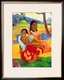 Nafea Faaipoipo (When are You Getting Married), 1892 Framed Giclee Print by Paul Gauguin