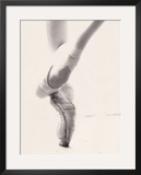 Close-up of Ballerina's Feet and Legs Framed Photographic Print by John Glembin
