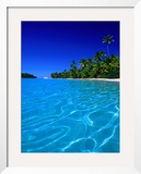 Tropical Lagoon Waters, Aitutaki, Southern Group, Cook Islands Framed Photographic Print by Peter Hendrie