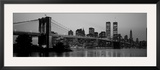 Brooklyn Bridge, Manhattan, New York City, New York State, USA Framed Photographic Print by  Panoramic Images