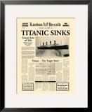 Titanic Sinks Framed Giclee Print