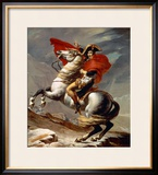 Napoleon Crossing the Alps Framed Giclee Print by Jacques-Louis David