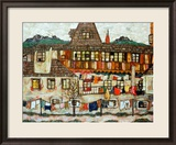 House with Drying Laundry, 1917 Framed Giclee Print by Egon Schiele