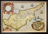Karte von the Island of Cyprus Kunst von Abraham Ortelius