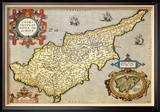 Map of the Island of Cyprus Poster van Abraham Ortelius