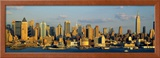 Hudson River, City Skyline, New York City, New York State, USA Framed Photographic Print by  Panoramic Images