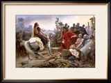 Vercingetorix Throws Down His Arms at the Feet of Julius Caesar, 1899 Framed Giclee Print by Lionel Noel Royer