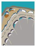 Island Droplets Giclee Print by Belen Mena