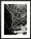 Nahaufnahme eines Basketballnetzes Gerahmter Fotografie-Druck