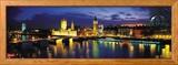 Nacht, London, England, Vereinigtes Königreich (UK) Gerahmter Fotografie-Druck von  Panoramic Images